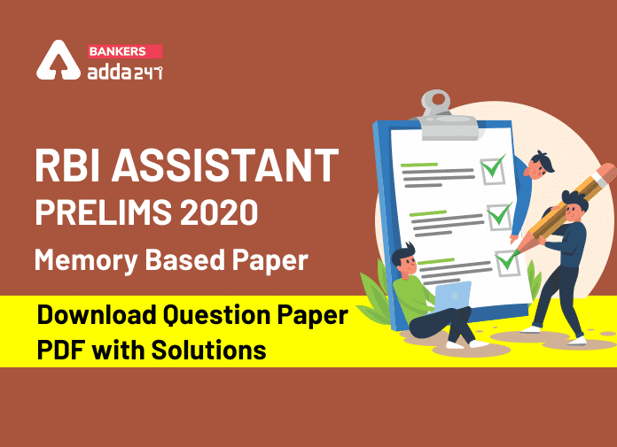 RBI Assistant Prelims 2020 Memory Based Paper - Download Question Paper PDF with Solutions_40.1
