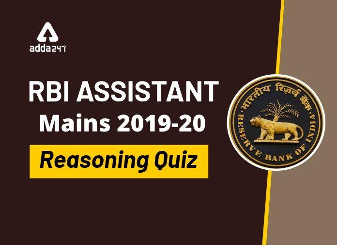RBI Assistant Mains Reasoning Daily Mock 17 February 2020: Puzzle, Direction, Coding_40.1