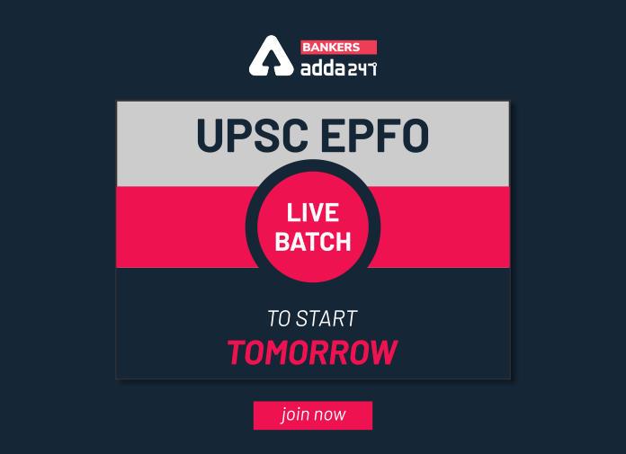 UPSC EPFO Live Batch to Start Tomorrow!_40.1