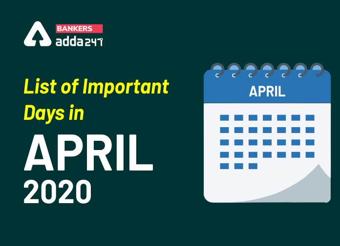 List of Important Days in April 2020_40.1