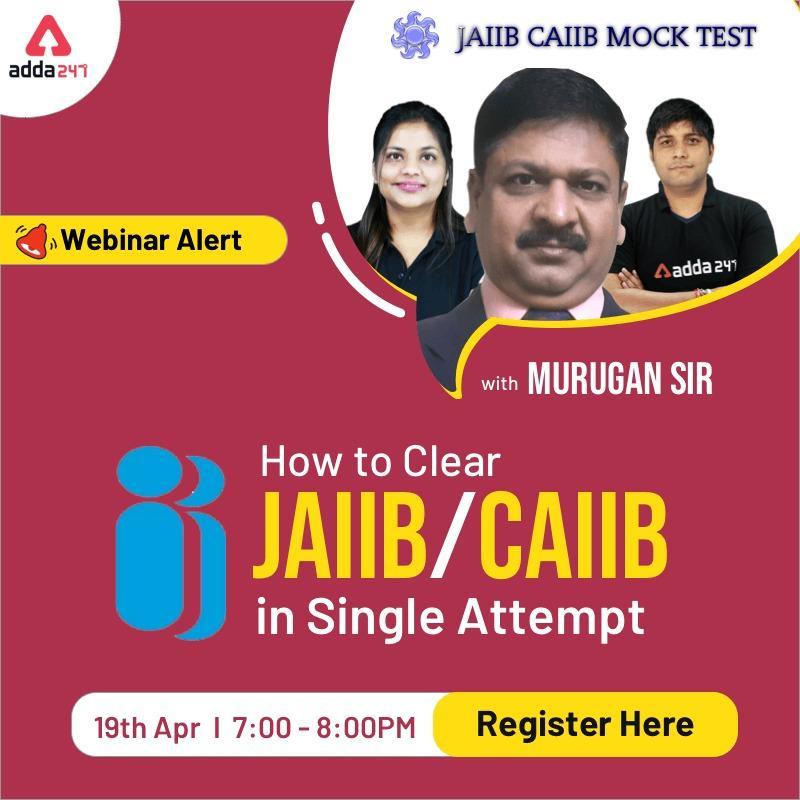 How to Pass JAIIB/ CAIIB in Single Attempt? Webinar by Murugan Sir and Team ADDA247_40.1