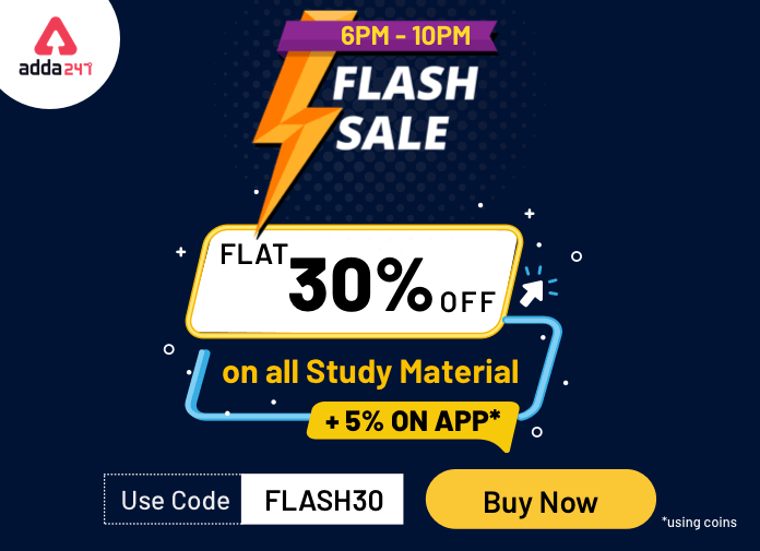 Give Wings to your Preparation! Flat 30% Off on all Study Material + 5% off on App*_40.1