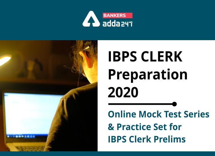 IBPS Clerk Mock Test 2020: Online Mock Test Series & Practice Set For IBPS Clerk Prelims_40.1