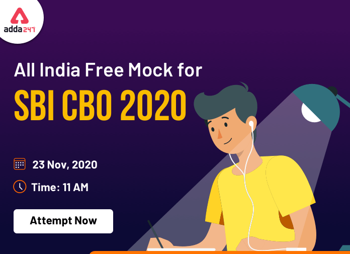All India Mock Test for SBI CBO 2020 on 23 November – Attempt Now_40.1