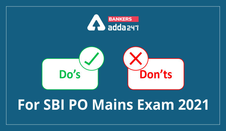 Do's and don'ts for SBI PO mains exams_40.1