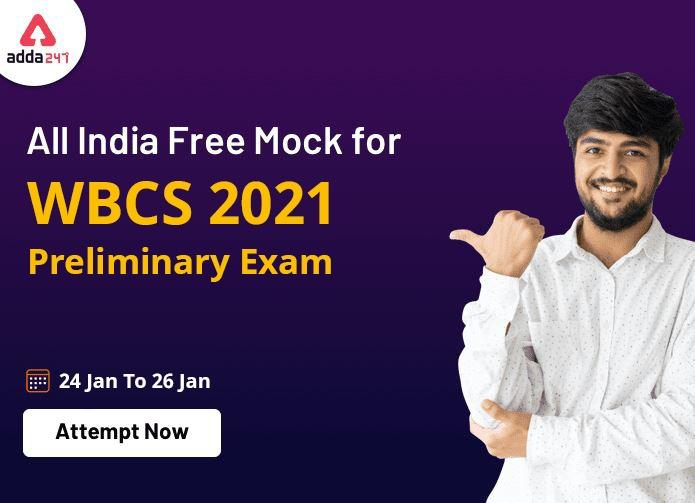 WBCS Prelims 2021   All India Free Mock   Attempt Now_40.1
