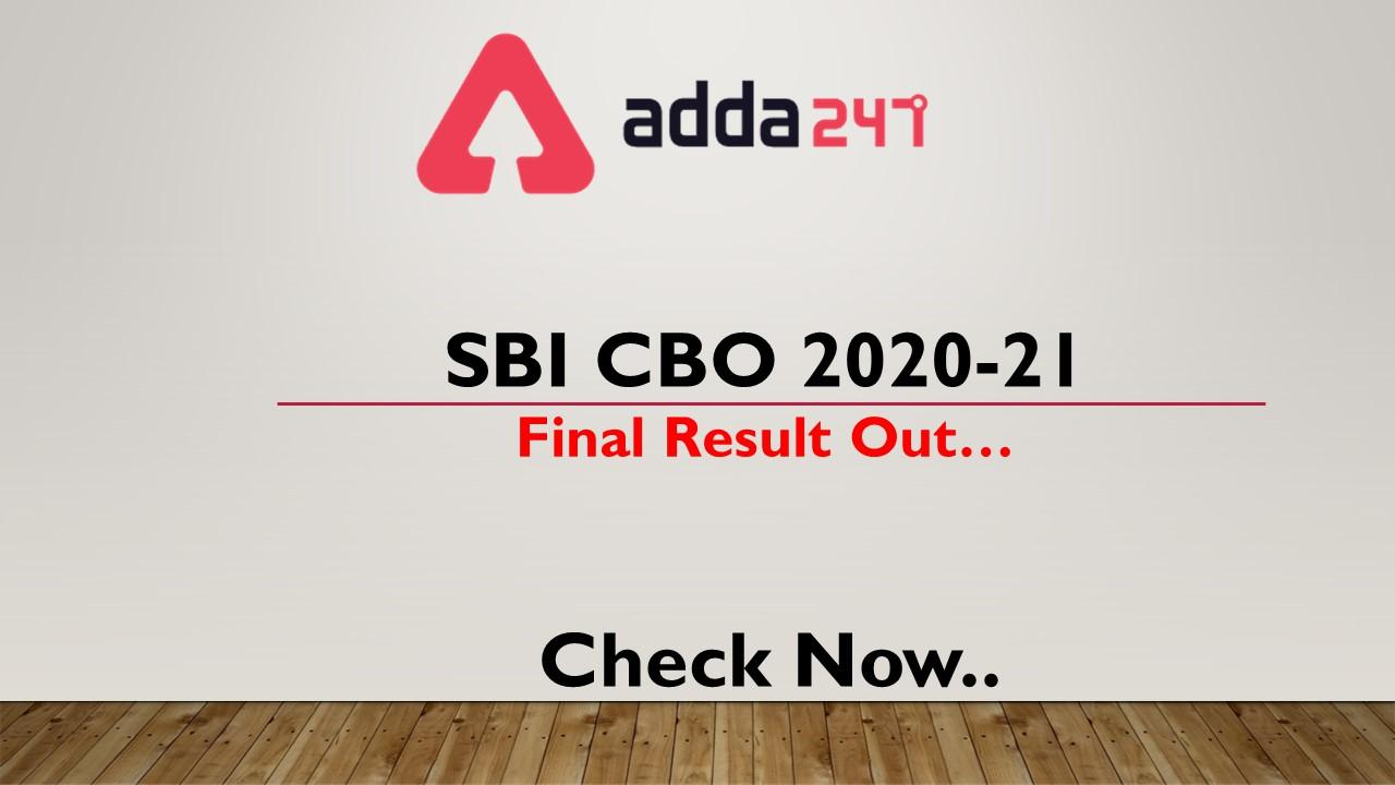 SBI CBO 2020-21 Final Result Out- Check Now_40.1