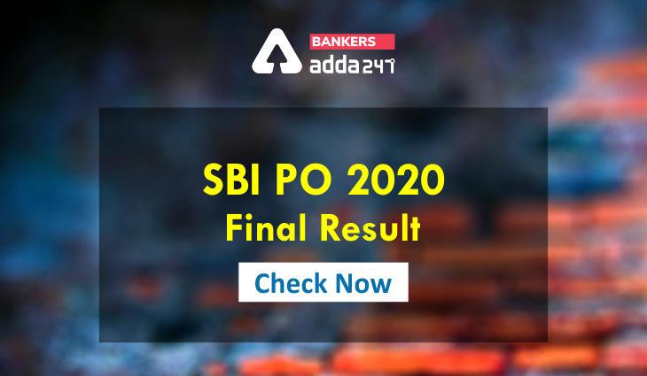 SBI PO Result 2021: Direct link for SBI PO Final Result and Marks_40.1