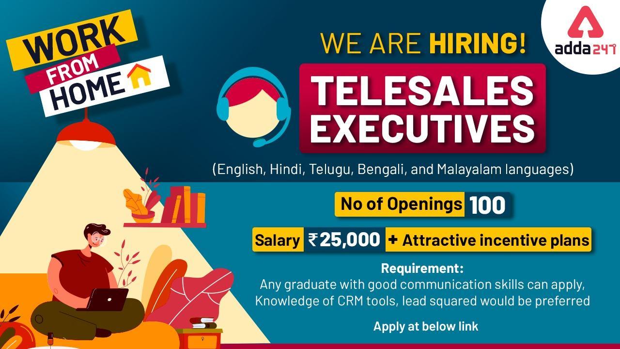 Adda247 is Hiring : Tele Sales Executive (Hindi, English, Malayalam, Telugu, Bengali)_40.1