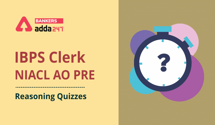 Reasoning Ability Quiz For IBPS Clerk/NIACL AO Prelims 2021- 28th August_40.1