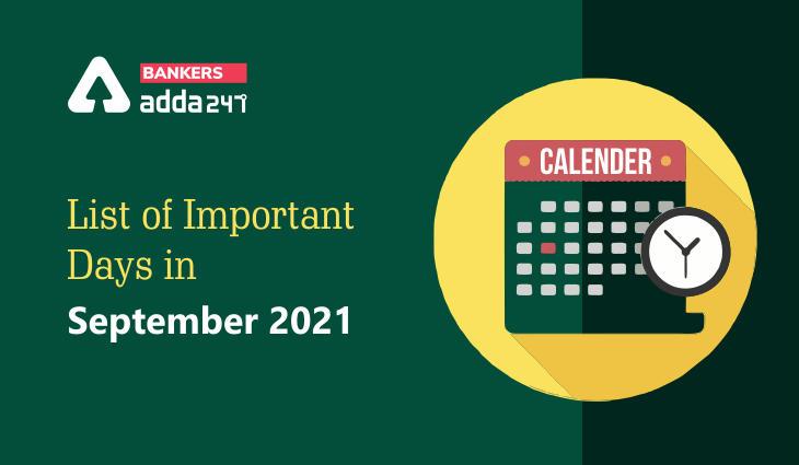 Important Days in September 2021: National & International Days & Dates_40.1