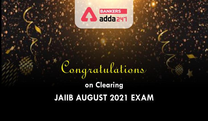 Congratulations on Clearing JAIIB August Exam 2021_40.1