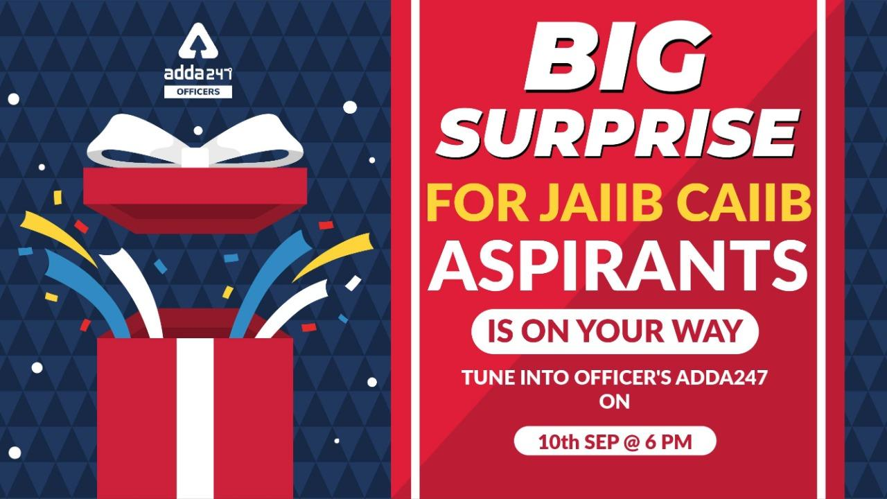 Big Surprise for JAIIB CAIIB Aspirants | Join Us Live on 10th September at 6 PM_40.1