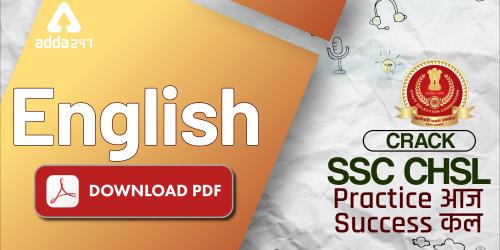 SSC CHSL English Challenge 30 Questions : 7th July | Free PDF_40.1