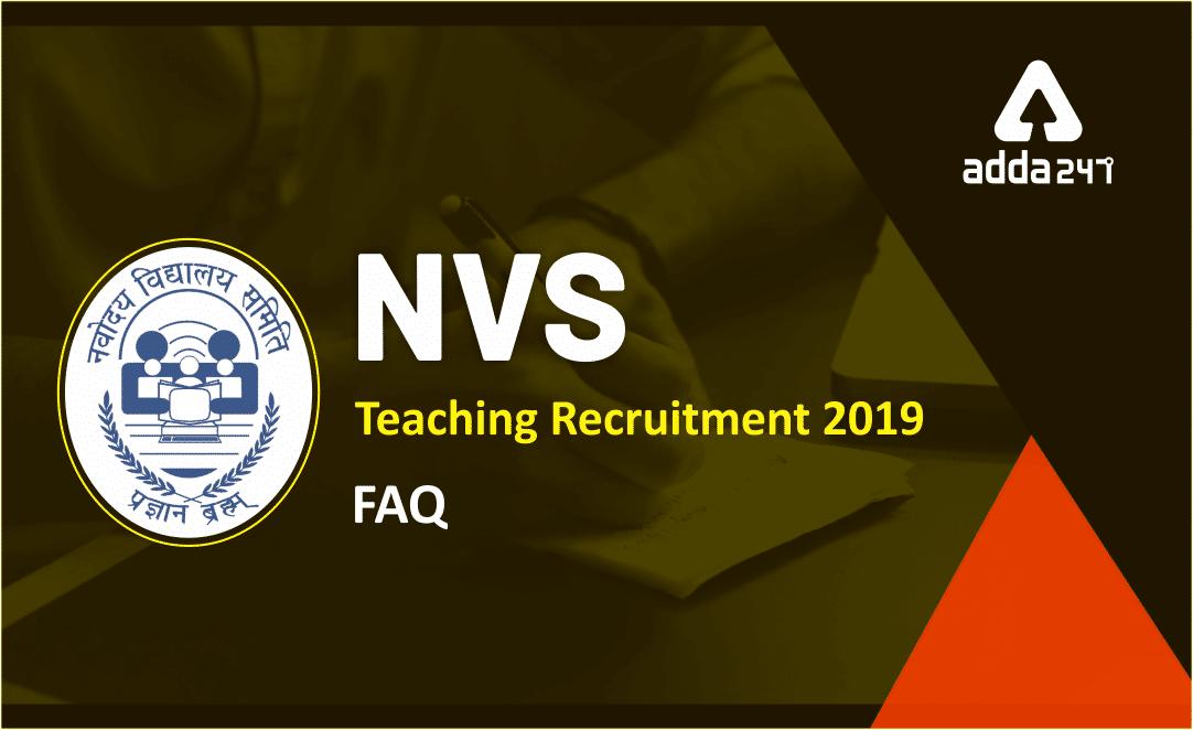 NVS Recruitment 2019: Exam Date, 2370 Vacancy_40.1