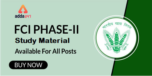 FCI Phase-II Test Series 2019 | Buy Now At Special Offer_40.1