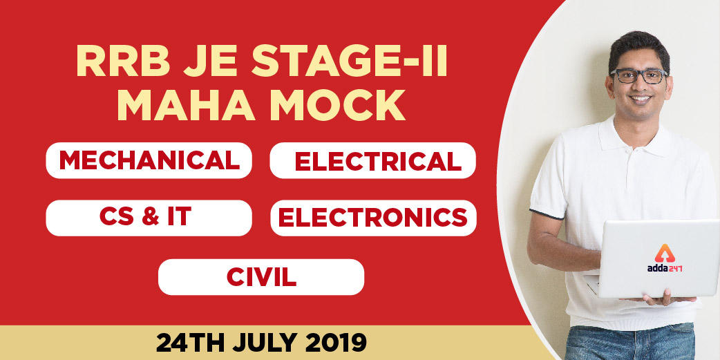 RRB JE Stage II Maha Mock VIDEO SOLUTIONS : Watch Here_40.1