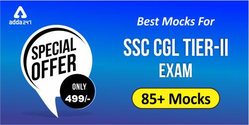 SSC CGL Tier-II Mock Test Series 2019 | Prime Test Series_40.1
