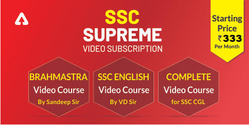 SSC Supreme Video Subscription : Complete Course For SSC Exams_40.1