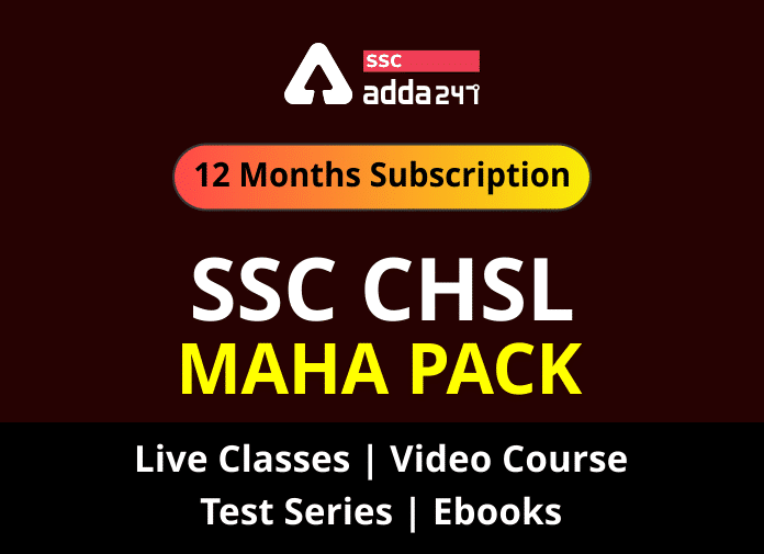 Get Ready For Selection!!! Join SSC CHSL Mahapack at FLAT 70% off Only For Today. Use Code: ADDA70_40.1