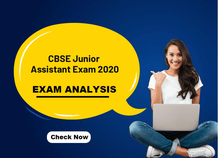 CBSE Junior Assistant Exam Analysis 2020: Exam Review & Questions Asked on 29th January_40.1