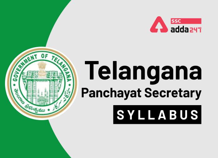 Telangana Panchayat Secretary Syllabus 2020: Check Detailed Panchayat Secretary Syllabus_40.1