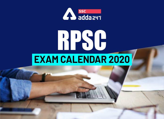 RPSC Exam Calendar 2020 Released: Check Upcoming Exam Dates_40.1