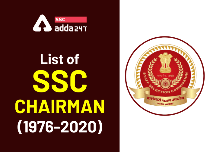 List of SSC Chairman (1976-2020); Staff Selection Commission Chairman_40.1
