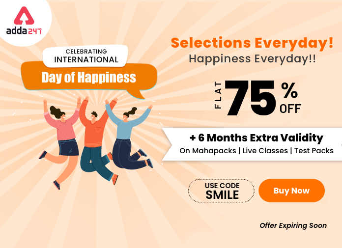 International Day of Happiness: Flat 75% Off + 6 months extra validity_40.1