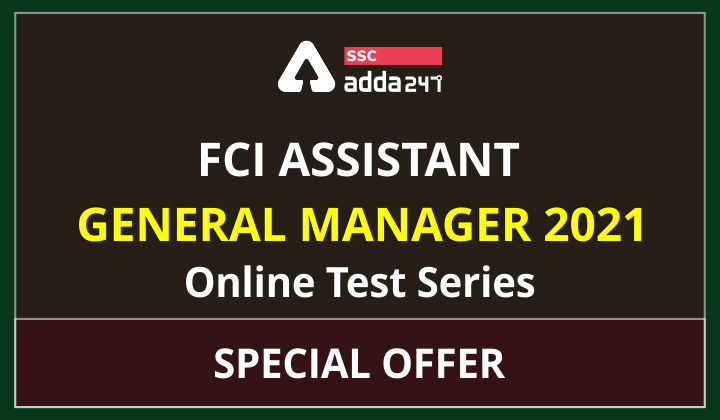 Special Offer: FCI Assistant General Manager 2021 Online Test Series_40.1