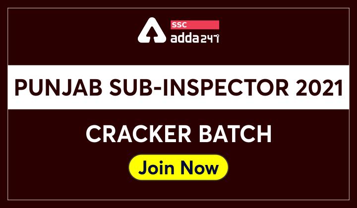 Punjab Sub-Inspector 2021 Complete Batch_40.1