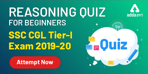 Reasoning [Beginner Level] Quiz For SSC CGL : 18th December_40.1