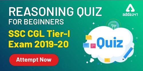 Reasoning [Beginner Level] Quiz For SSC CGL : 19th December_40.1