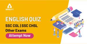 English Quiz For SSC CGL & CHSL Exam : 25th Jan 2020 For Sentence Rearrangement_40.1