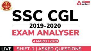 Video of Exam Analysis for SSC CGL 2020 4 मार्च , शिफ्ट 1_40.1