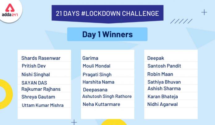 21 Days #Lockdownchallenge Day 1 Winners List_40.1