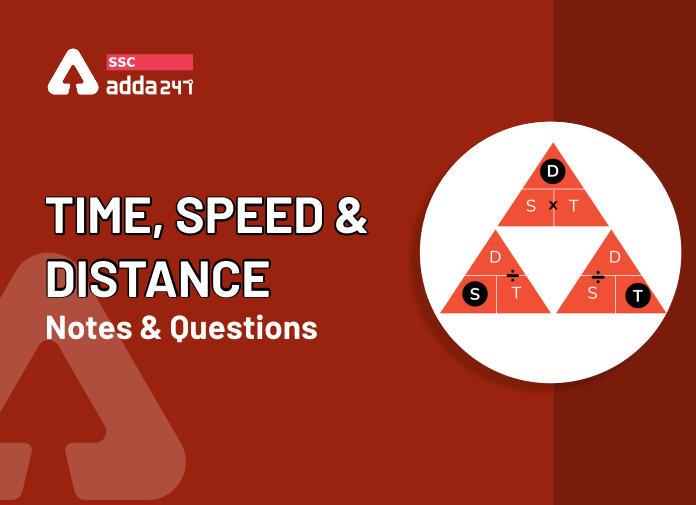 समय, गति और दूरी का नोट्स : यहाँ देखें समय, गति और दूरी (Time, Speed and Distance) के नोट्स और इसपर आधारित प्रश्न_40.1