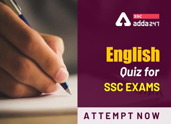 English Questions For SSC Exam : Take The Test Now_40.1