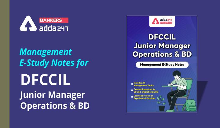 DFCCIL जूनियर मैनेजर: मैनेजमेंट ई-स्टडी नोट्स_40.1