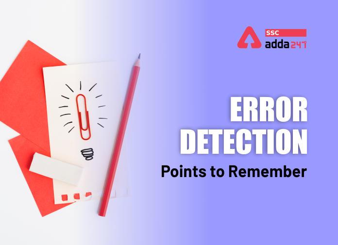 Error Detection का स्टडी नोट्स : ध्यान देने योग्य महत्वपूर्ण बातें_40.1