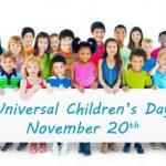 Universal Children's Day: 20 November