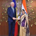 Romanian Foreign Minister Teodor Melescanu In India