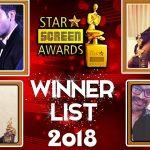 Star Screen Awards 2018 Announced: Complete List of Winners
