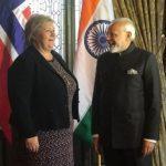 Norwegian PM Erna Solberg In India On 3-Day Visit