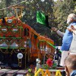 PM Modi Flagged Off 1st Ever Diesel To Electric Conversion Locomotive