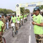 CISF Sets Guinness Record For Longest Single Line Cycle Parade