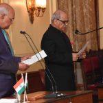 President Administers Oath Of Office to Justice PC Ghose As Lokpal Chief