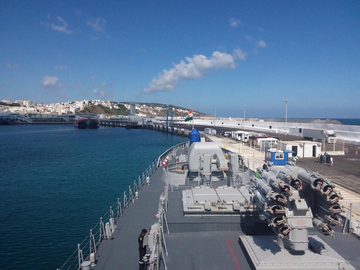 Indian Naval Ship Tarkash arrives in Morocco_40.1