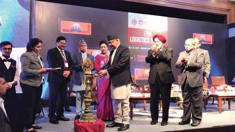 Nepal PM inaugurates India-Nepal Logistics Summit_40.1
