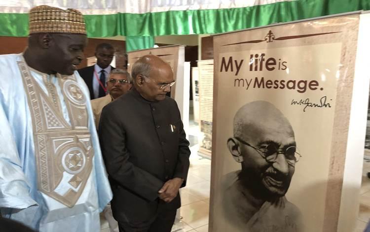 President Kovind inaugurates exhibitions on M. Gandhi and Khadi in Gambia_40.1